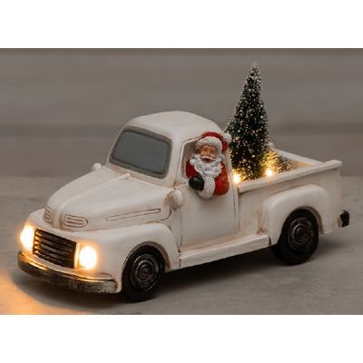 Tomte Pickup med Led belysning (Batteri)
